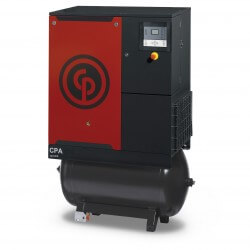Chicago Pneumatic CPA 15 Oil Injected Screw Compressor with 270L Receiver + Dryer (8 bar version)