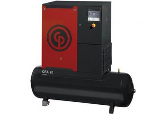 Chicago Pneumatic CPA 20 Oil Injected Screw Compressor with 500L Receiver + Dryer (8 bar version)