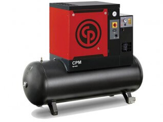 Chicago Pneumatic CPM 10 M Oil Injected Screw Compressor with 200L Receiver + Dryer