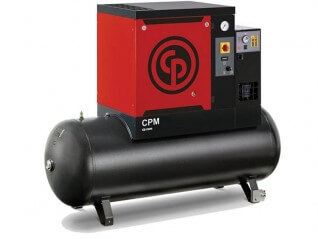 Chicago Pneumatic CPM 5.5 Oil Injected Screw Compressor with 200L Receiver + Dryer