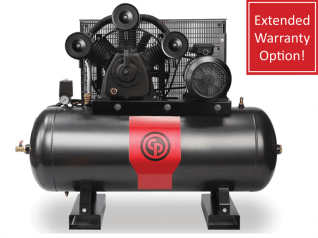 Chicago Pneumatic Piston Compressor Ironman 10-270 | Cast Iron, 10HP 270L Tank (3-Phase)