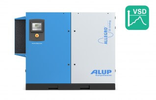 ALUP ALLEGRO 110 Oil Injected Screw Compressor with Variable Speed Drive