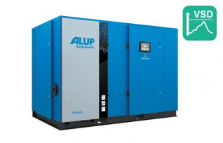 ALUP ALLEGRO 160 Oil Injected Screw Compressor with Variable Speed Drive