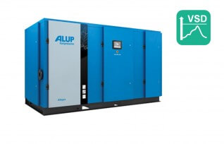 ALUP ALLEGRO 200 Oil Injected Screw Compressor with Variable Speed Drive