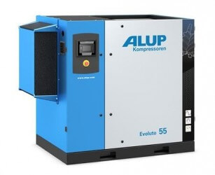 ALUP Evoluto 55 Oil Injected Screw Compressor with Variable Speed Drive
